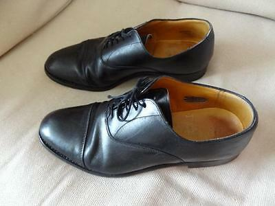 UK 8 *BURBERRY* Smart black leather Oxford lace-up brogue shoes mens