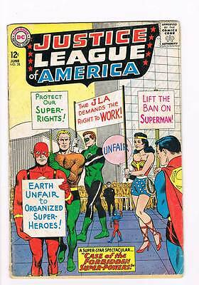 Justice League of America # 28 Forbidden Super-Powers ! grade 3.0 scarce book !!