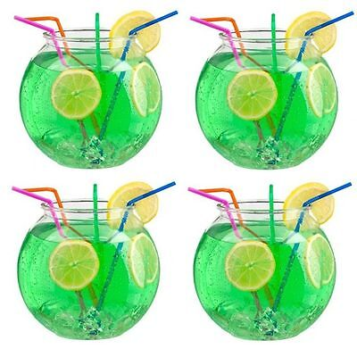 4 x Plastic Cocktail Fish Bowl Party Drinks Punch Drinking Game Jumbo xl Giant
