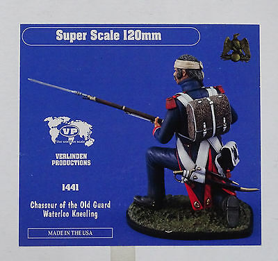 VERLINDEN PRODUCTIONS #1441 Chasseur of the Old Guard Waterloo Kneeling in 1:16