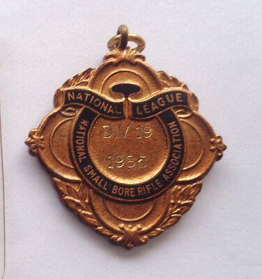NATIONAL  LEAGUE SMALLBORE RIFLE ASS. MEDALLION dated 1985 -SHOOTING-HUNTING