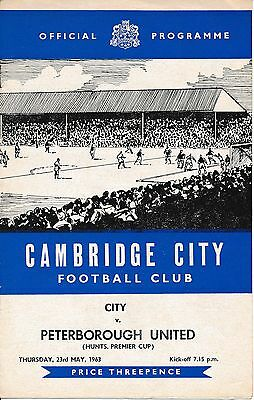 Cambridge City v Peterborough (Hunts Prem Cup) 1962/3