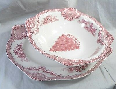 Johnson Brothers Christmas Old Britain Castles England 1883 Platter & Veg Bowl