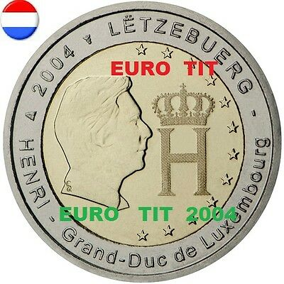 2 €   LUXEMBOURG  COMMEMORATIVE   2004    1   X    PIECE             disponible