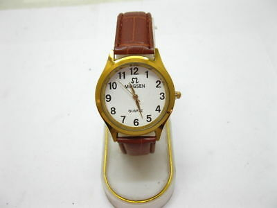 10 New Men's Coffee Strap Wrist Watches Wholesale