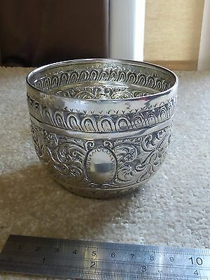 "Antique solid silver  Victorian 3""  high  bowl  116 grams"