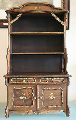"Antique French Wooden Miniature Dresser 24 1/2"" (62 1/2cm) Tall"
