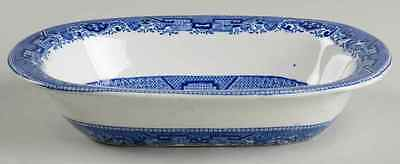 Buffalo Pottery BLUE WILLOW Oval Vegetable Bowl 42746