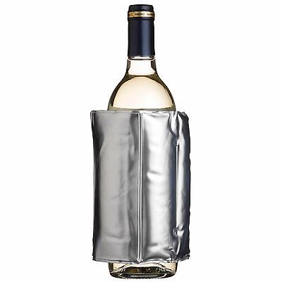 Barcraft Wine Cooler Sleeve Wrap Bottle Drink Chiller Insulated Silver