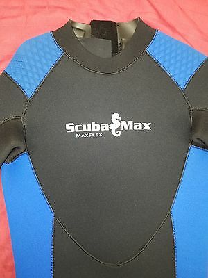 NEW ScubaMAX WETSUIT mens Large 7mm VERY WARM one piece Black Blue