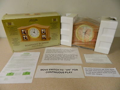 Brand New Mr. Christmas Gold Label Symphony Surprise Band Of Bears Musical Clock