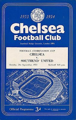 Chelsea Reserves v Southend (Combination Cup) 1953/4