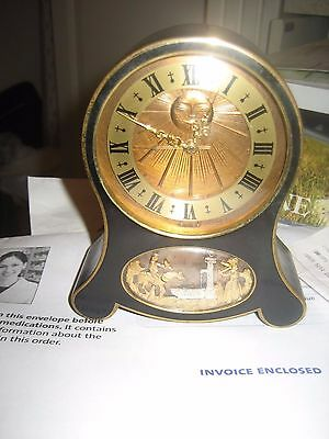 Vintage Lecoultre Small Mantel Alarm And Chime Clock