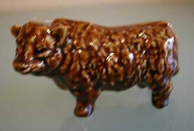 """Dark Brown Bull Small Decanter by Rutherfords Scotch Whusky 2 3/4"""" (7cm) Tall"""