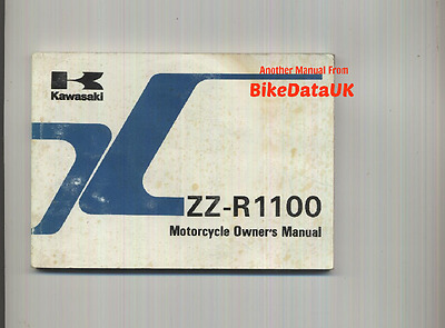 Genuine Kawasaki ZZR1100 D4 (1996) Owners Riders Manual Hand Book ZX ZZR 1100 D