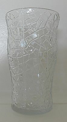 L E Smith By Cracky Crackled Glass Tumbler 4 Ounce