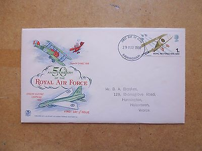 1968 ROYAL AIR FORCE 50th ANNIVERSARY FIRST DAY COVER