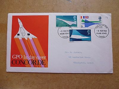 1969 Gpo First Day Cover Of Concorde