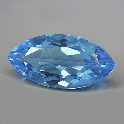 10x5mm MARQUISE-FACET SWISS-BLUE NATURAL AFRICAN TOPAZ GEMSTONE £1 NR!