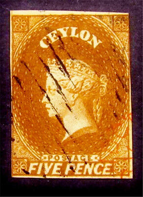 nystamps British Ceylon Stamp # 5 Used £150