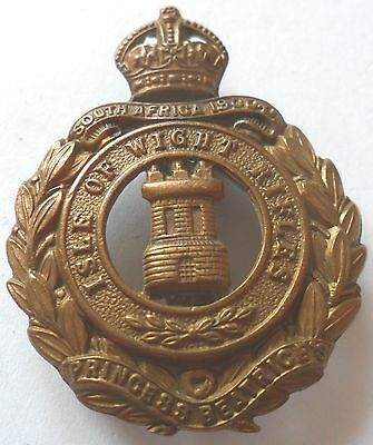 8th Hampshire Regt (Isle of Wight Rifles, Princess Beatrice's) Brass Cap Badge