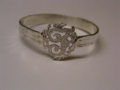 Napkin Ring with a ( Initial ( F  ) Sterling Silver