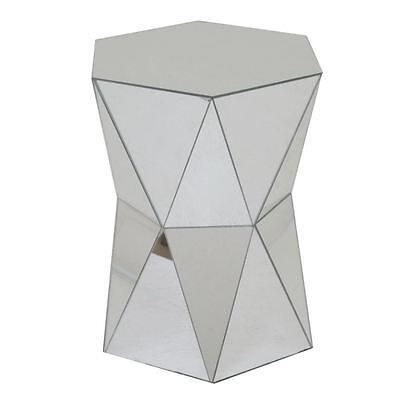 Fashionable wood mirrored accent table