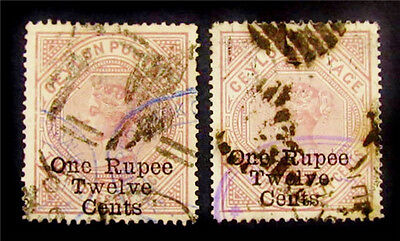 nystamps British Ceylon Stamp # 175 176 Used £155