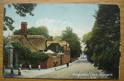 Hampstead Lane, Highgate. Published by E. Gordon Smith, 15 Stroud Green Road