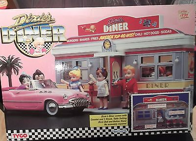 1988 Tyco Dixie's Diner Playset with Accessories NIB