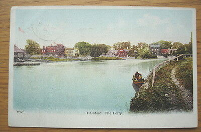 Halliford. The Ferry. Posted in 1904