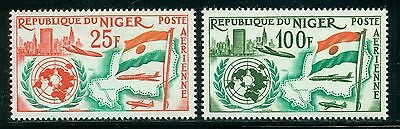 Niger MNH Selections: Scott #C20-C21 Admission to United Nations CV$2+