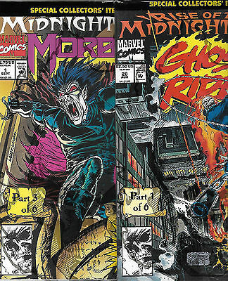 Monster Horror Comic Book Lot Ghost Rider Morbius