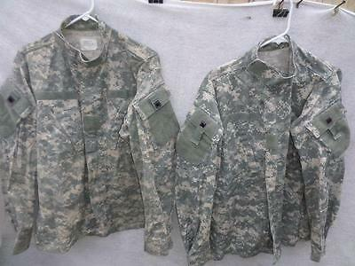 Us Military Acu Camo Shirts Lot Of 2 Sz Medium Regular Used