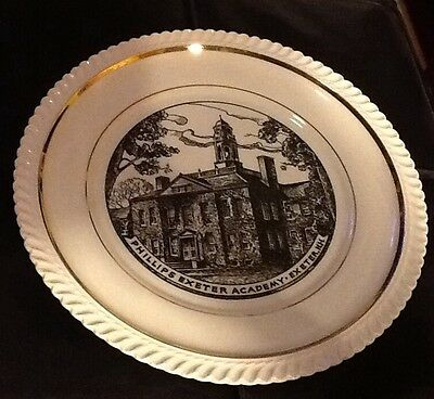 "Vintage 10 1/4"" George & Phillips Exeter Academy New Hampshire Collector Plate"