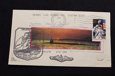Naval Cover 1994 Hand Painted Cachet Uss Montpelier (Ssn-765) Morrissey (4420)
