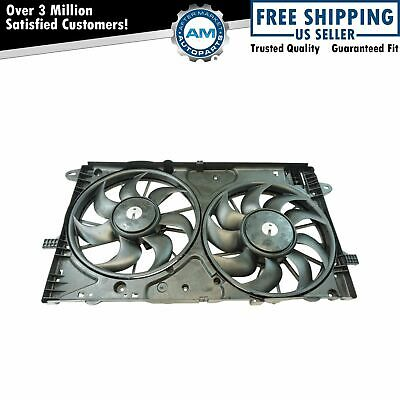 Radiator Dual Cooling Fan Assembly for Chevy Malibu Impala Brand New