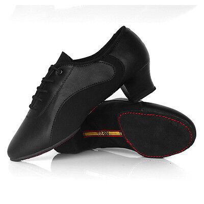 Newly Men Ballroom Dance Shoes Comfy Lace-Up Latin High Quality Heel Dance Shoes