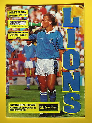 MILLWALL v SWINDON TOWN LEAGUE CUP 91/92