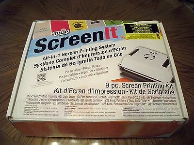 Tulip Screen It Printing Kit System In Box
