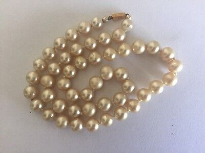 Vintage Ciro Bond Street Faux Pearl Necklace 9 Ct Gold Clasp