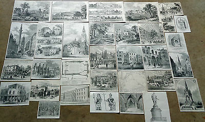 30 Victorian Etchings: Cassells 'old &  New London' 1898:  Chelsea Kensington