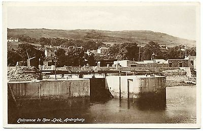 Early Postcard . Entrance To New Lock . Ardrishaig . Scotland