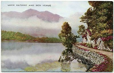 Early Postcard . Loch Katrine And Ben Venue . Scotland