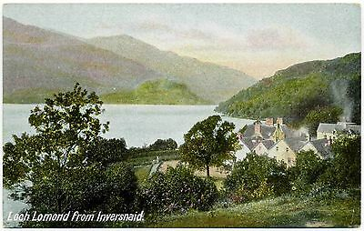 Early Postcard . Loch Lomond From Inversnaid . Scotland
