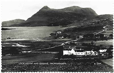 EARLY REAL PHOTO POSTCARD . LOCH ASSYNT . INCHNADAMPH . SCOTLAND . c1935