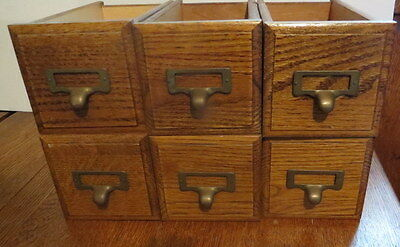 Lot of 6 Vintage Wooden Sewing Machine  Craft Drawers Organizers