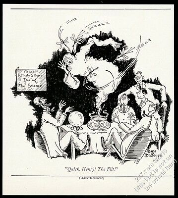 1931 Dr. Seuss seance fortune teller art Flit Insecticide vintage print ad