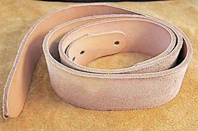 """1 3/4"""" x 43"""" Natural Cowhide BELT BLANK Leather Strap 1/8"""" Thick"""