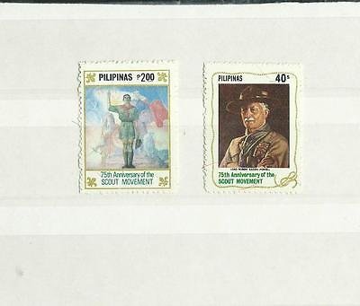 1982 Philippines Year of The Scout 2V Mint